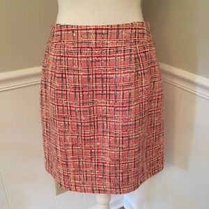 Kate Spade red, white, blue plaid skirt -size 10